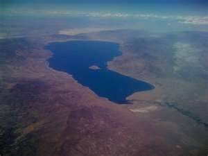 Pyramid Lake Aerial image
