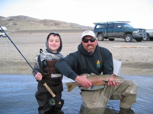 Fly Fishing Pyramid Lake photo